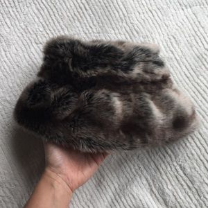 Vintage Faux Fur Bucket Hat